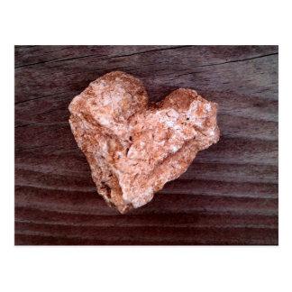 Rugged Heart Rock - Natural Postcard