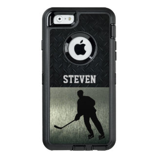 Rugged Hockey Silver Diamond Plate Case