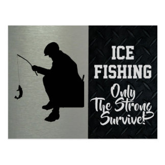 Rugged Ice Fishing Postcard