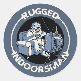 Rugged Indoorsman II Classic Round Sticker