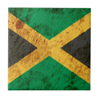 Rugged Jamaican Flag Tile