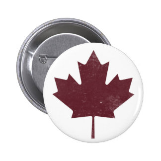 Rugged Maple Leaf 2 Inch Round Button