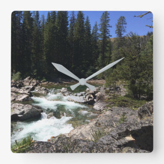 Rugged Mountain River Photo Wall Clock