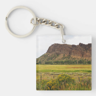 rugged mountains in central Colorado Keychain