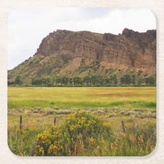 rugged mountains in central Colorado Square Paper Coaster