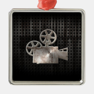 Rugged Movie Camera Metal Ornament