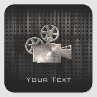 Rugged Movie Camera Square Sticker