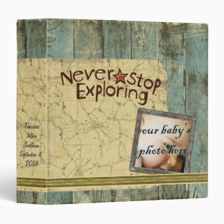 Rugged Planks Map Scrapbook Photo Album Binder
