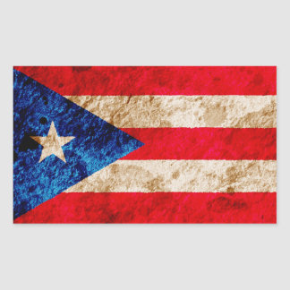 Rugged Puerto Rican Flag Sticker