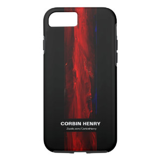 Rugged Red Abstract iPhone 7 case