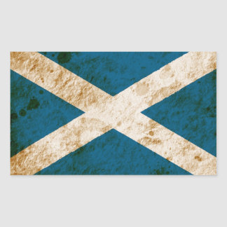 Rugged Scottish Flag Sticker