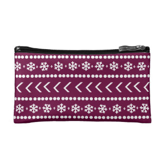 Rugged Snow make-up pouch - raspberry
