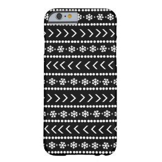 Rugged Snow phone case - black