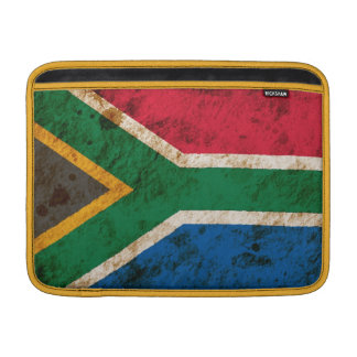 Rugged South African Flag Sleeves For MacBook Air