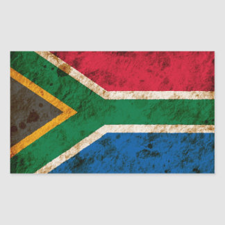 Rugged South African Flag Sticker