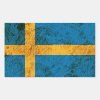 Rugged Swedish Flag Sticker