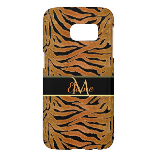 Rugged Tiger Personalized Animal Print Samsung Galaxy S7 Case