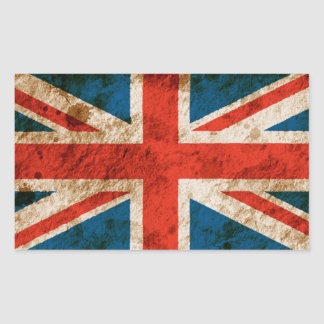 Rugged Union Jack Sticker