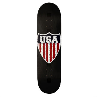 Rugged USA Supporters Shield Skateboards