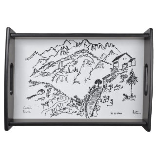 Rugged Val d'Asco | Corsica, France Serving Tray