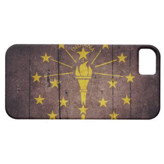 Rugged Wood Indiana Flag iPhone 5 Case