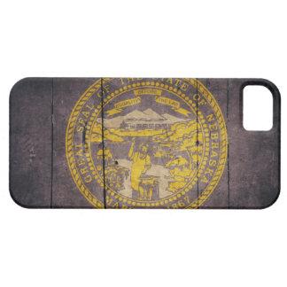 Rugged Wood Nebraska Flag iPhone 5 Cases