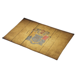 Rugged Wood New Jersey Flag Placemat