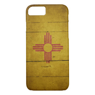 Rugged Wood New Mexico Flag iPhone 7 Case