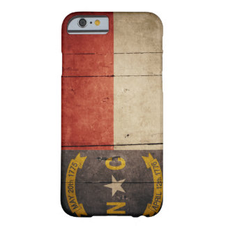 Rugged Wood North Carolina Flag Barely There iPhone 6 Case
