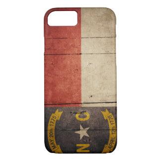 Rugged Wood North Carolina Flag iPhone 7 Case