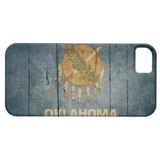 Rugged Wood Oklahoma Flag iPhone 5 Cases