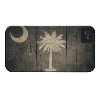 Rugged Wood South Carolina Flag iPhone 4 Case-Mate Cases