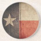 Rugged Wood Texas Flag Coaster