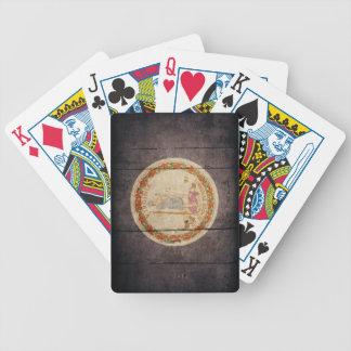 Rugged Wood Virginia Flag Poker Deck