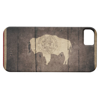 Rugged Wood Wyoming Flag iPhone 5 Covers