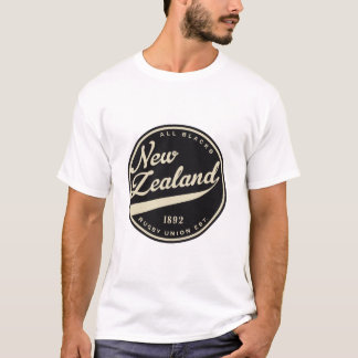 Ruggershirts Retro New Zealand Rugby T-Shirt