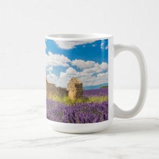 Ruin in Lavender Field, France Coffee Mug