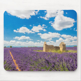 Ruin in Lavender Field, France Mouse Pad