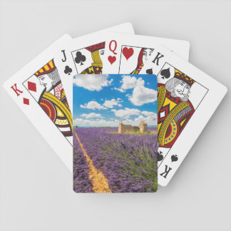 Ruin in Lavender Field, France Playing Cards