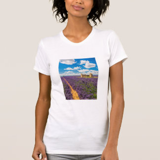 Ruin in Lavender Field, France T-Shirt