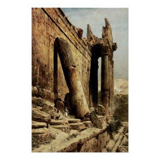 Ruined Temple in Ballbeck Poster