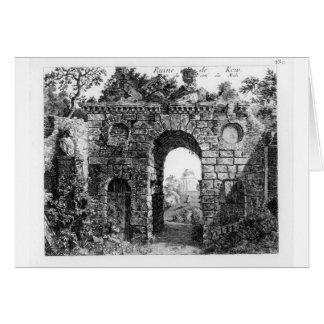 Ruines au milieu des jardins de Kew, 'du Gard Carte De Vœux