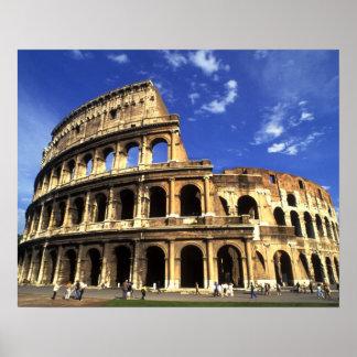 Ruines célèbres du Colisé à Rome Italie Poster