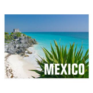 Ruines maya à la plage dans Tulum Carte Postale