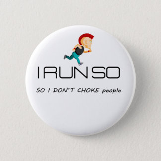 Ruining for health and fitness 2 inch round button