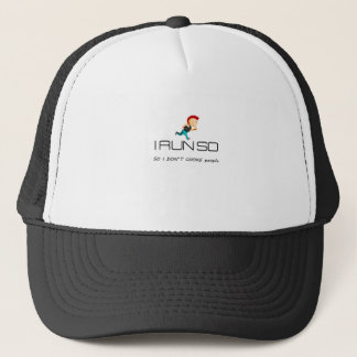 Ruining for health and fitness trucker hat