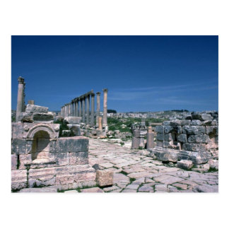 Ruins along South Colonnade Street, Jarash, Jordan Postcard