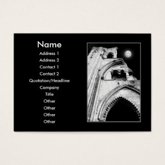 Ruins at Night. Black and White. Business Card