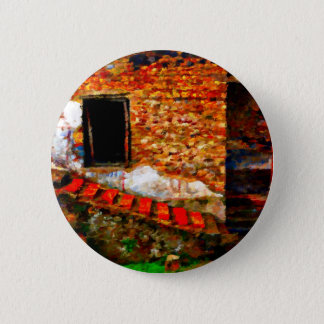 Ruins at Pompeii Italy 2 Inch Round Button