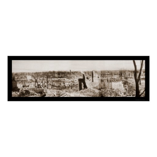 Ruins in Chelsea Mass Photo 1908 Poster